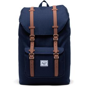 Herschel Little America Mid-Volume Zaino 17L, peacoat/saddle brown